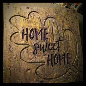 Home sweet home purple gold